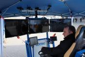 Leitstand für die Video Teleoperation eines Radladers