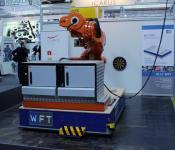 Schwerlast FTF der Firma WFT mit Transponder Positionierung der Götting KG