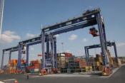 GPS Navigation im Container-Hafen