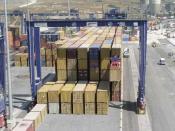 Container Krane im Hafen