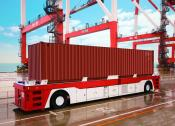 Container FTF im Hafen
