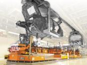 Induktiv geführte FTF PKW-Montage, DÜRR Automation
