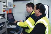 Inbetriebnahme der autom. Spurführung eines Containerkrans