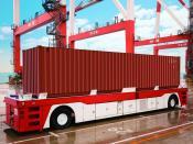 Containertransporter im Hafen, Toyota, Aichi, Japan
