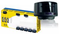 Foto des Sicherheits-Laserscanners mit Auswerteeinheit